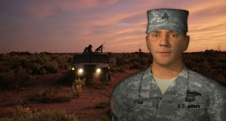 Sgt. Star as he appears on the Army website.