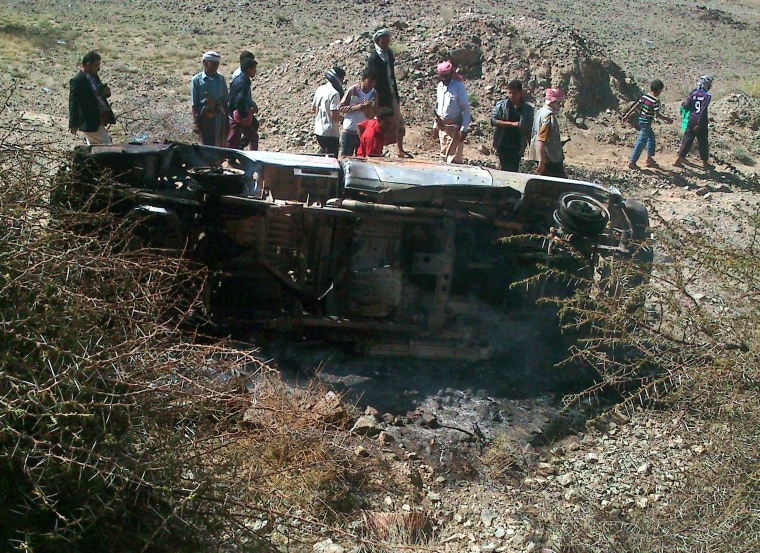 Image: Report: At least 14 killed in Yemen drone attack