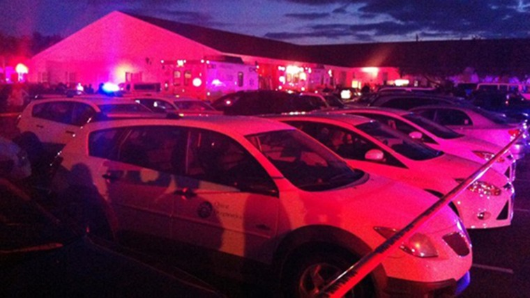 Image: Police are on the scene where 21 people were injured after a car crashed into a church in Fort Myers, Fla.