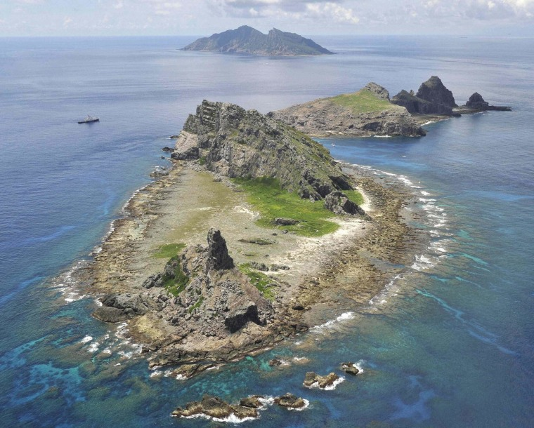 A group of disputed islands known as Senkaku in Japan and Diaoyu in China in the East China Sea.