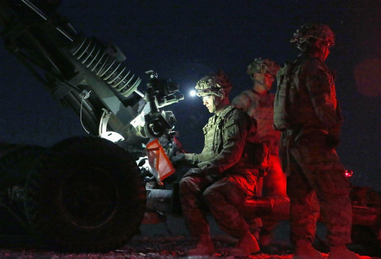 Image: U.S. Army Soldiers Fire Artillery Rounds in Afghanistan