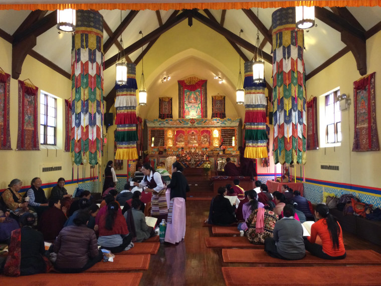 New York's Sherpa community gathers for a day-long prayer service for victims of the Mt. Everest avalanche tragedy.