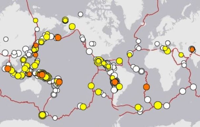 Image: Earthquakes over 30 days