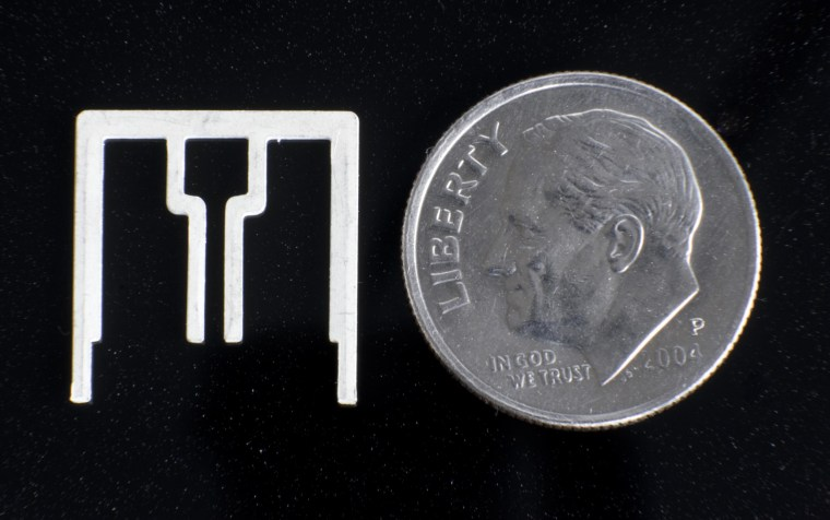 An Aereo antenna is about the size of a dime and can fit on the tip of your finger.