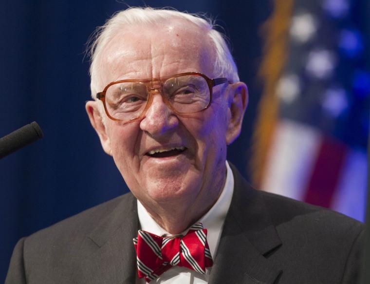 Image: Former U.S. Supreme Court Justice John Paul Stevens