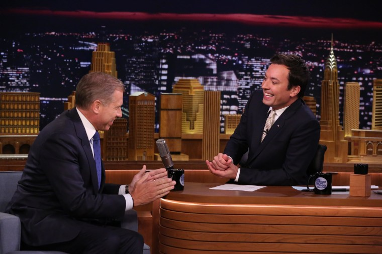 Brian Williams 'raps' on the Tonight Show April 21,2014