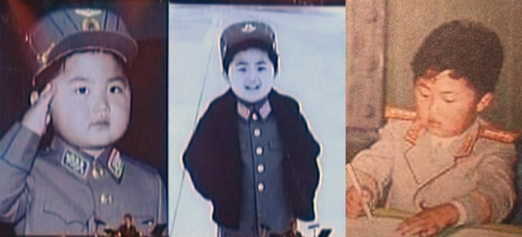 Images of Kim Jong Un as a child appeared during KCTV's broadcast of a concert by the Moranbong Band.