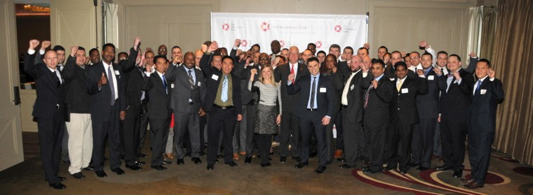 A group of veterans and local business leaders participate in the Veterans Career Mentoring Program launched by The Westchester Bank.