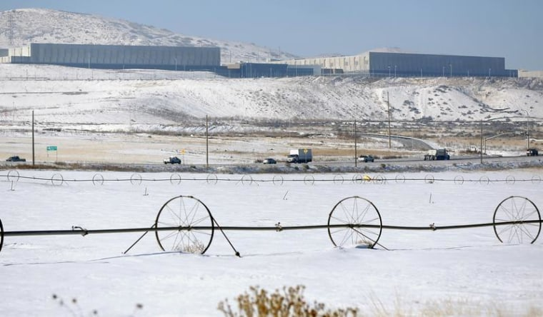 A National Security Agency data gathering facility is seen in Bluffdale, Utah, about 25 miles south of Salt Lake City.