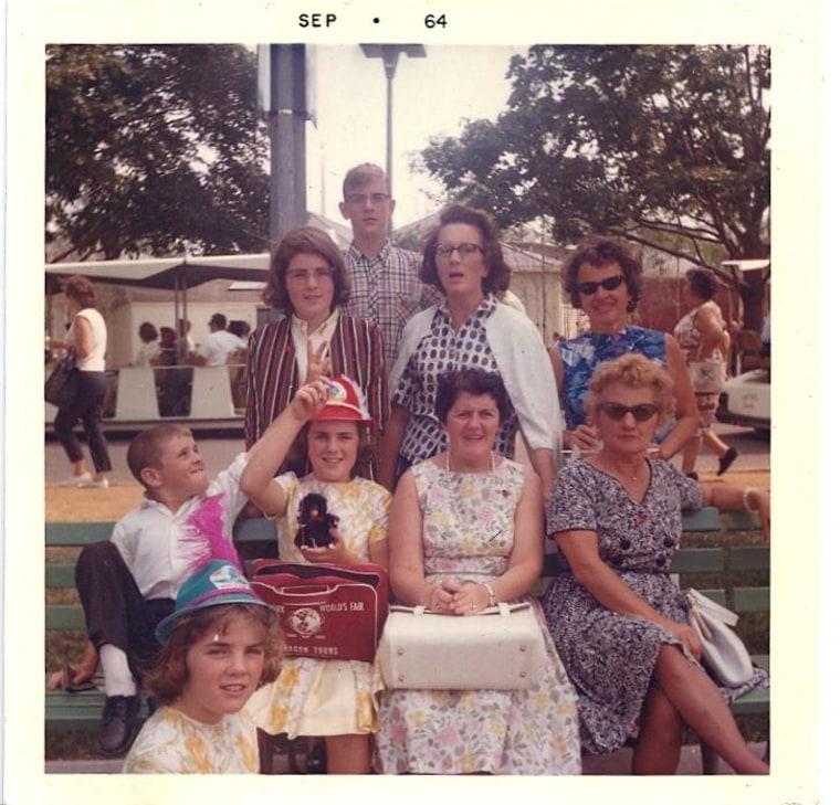 Proving that even in 1964 brothers were around to torment sisters, Karen Martin of Warwick, R.I. (bottom left) says she had a great time with her family at the World's Fair.
