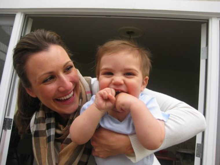 Image: Stacey Armato with her son Lorenzo, in 2010.