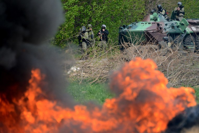 Image: Ukrainian special forces in Slaviansk