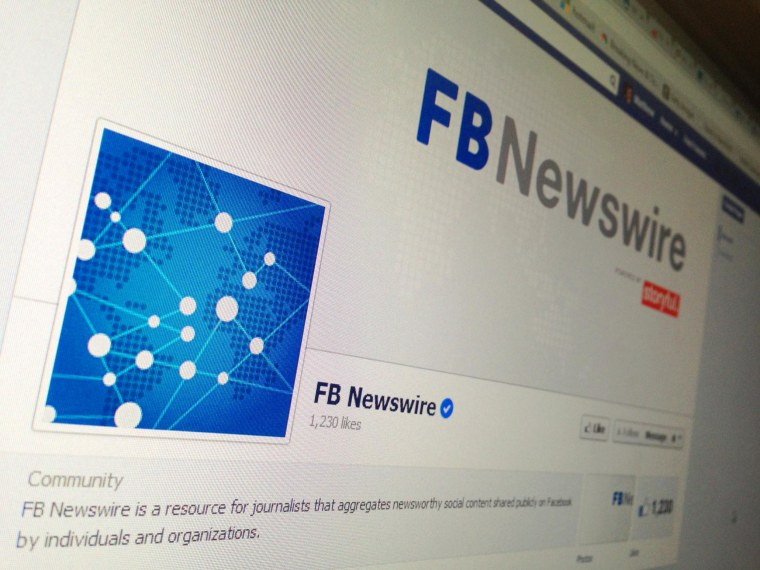 Facebook Newswire