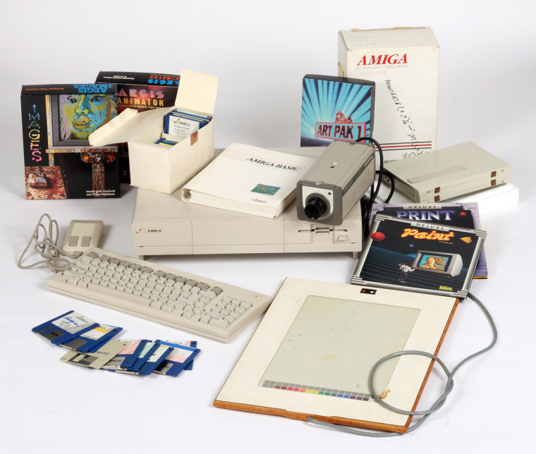 "The Commodore Amiga hardware used by Andy Warhol to create his ""digital experiments."""