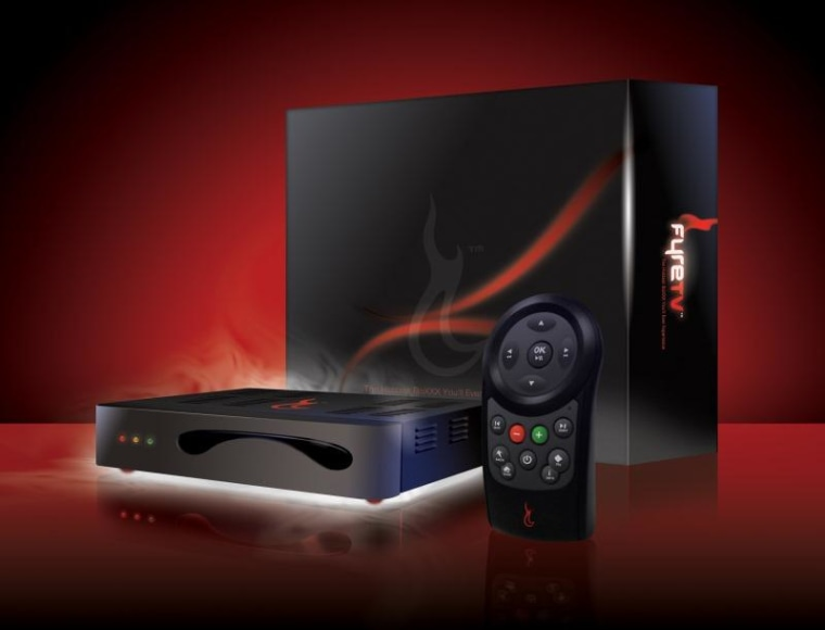 The FyreTV set-top box and controller.