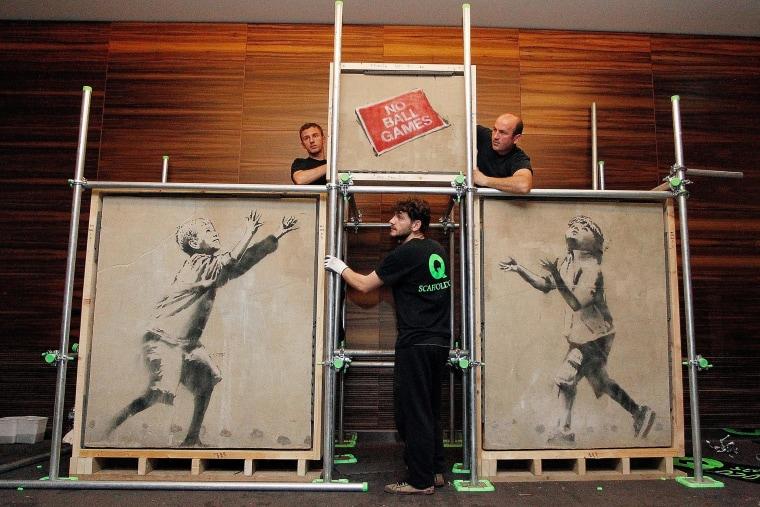 Image: Banksy Street Art Restored For Auction