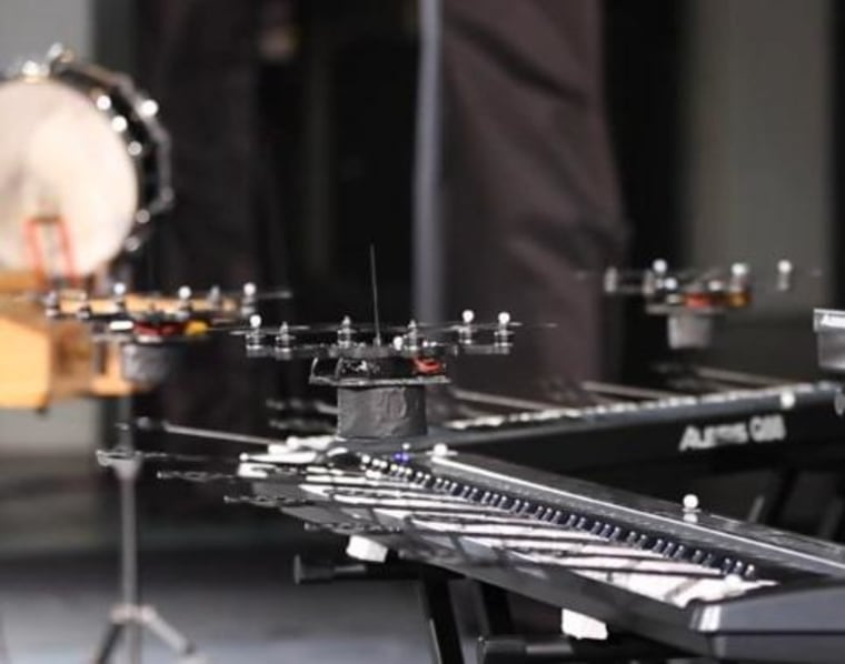 Hover Band: Flying Drones Play Classical Music Medley