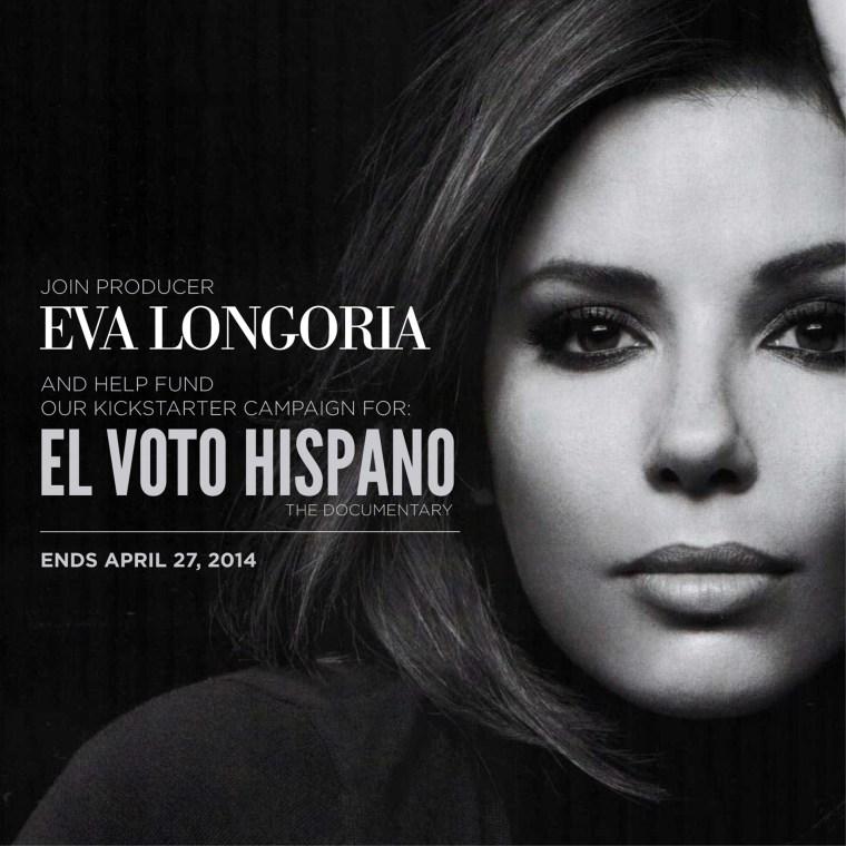 "Actress and activist Eva Longoria has lent her support to ""El Voto Latino's"" crowdfunding effort."