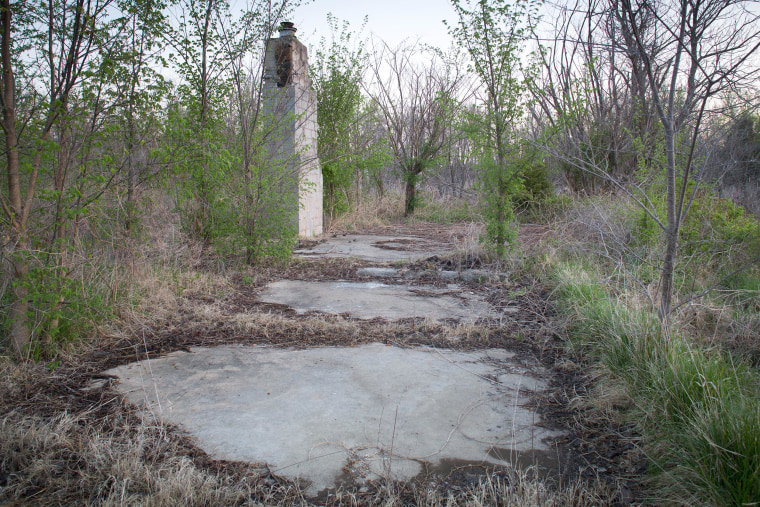 Image: A remnant of a house stands in Picher