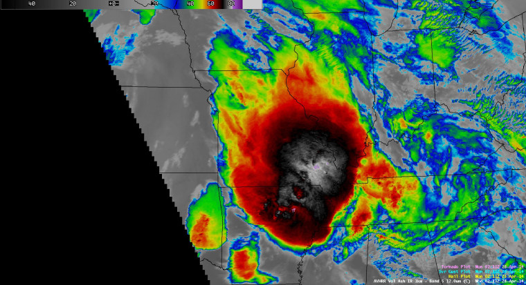Image: Infrared satellite image of Deadly storm