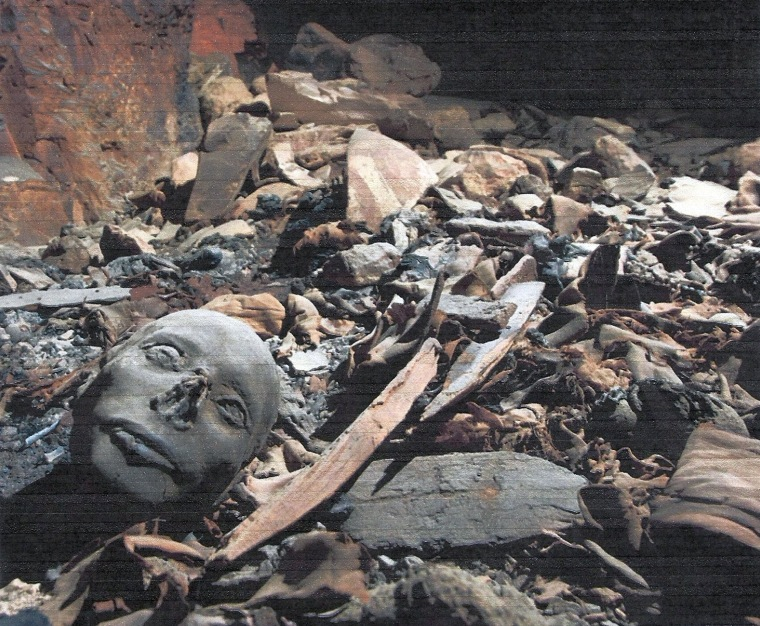 Image: Remains and mask