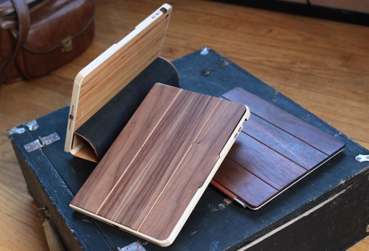 Grovemade's iPad cases are among the most carefully detailed we've seen, and the front curls back to form a stand.