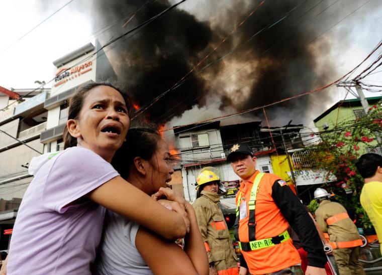 Image: Fire incident in Manila slum