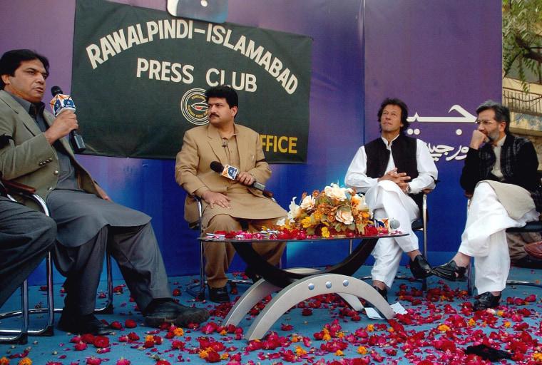 Image: Reports say senior Pakistani journalist Hamid Mir severly injured