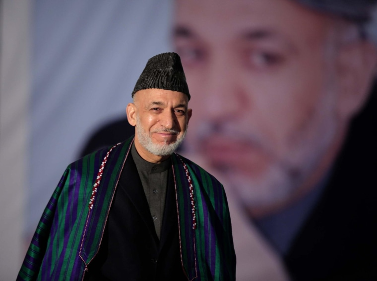 Image: Hamid Karzai on April 5