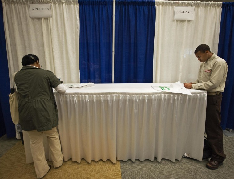 U.S. businesses boosted hiring in April, according to a survey by payroll processor ADP.