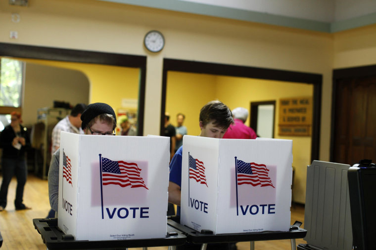 Image: Wisconsin Voters Head To The Polls In Recall Election For Governorship