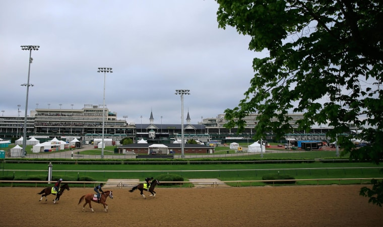 Image: 2014 Kentucky Derby exercise session