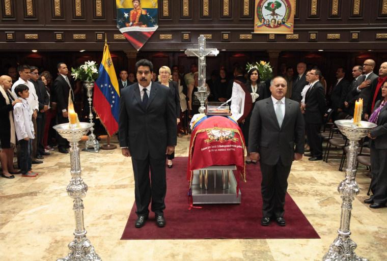Image: Wake of Venezuelan former Director of Intelligence Eliezer Otaiza