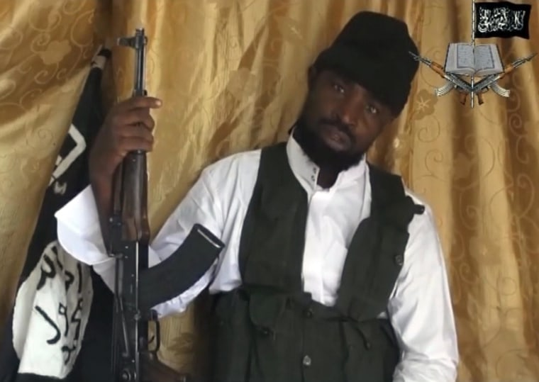 Image: A still from a video obtained by news agency AFP shows a man claiming to be Abubakar Shekau, the current leader of Boko Haram.