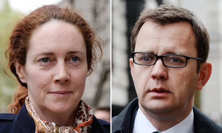 Image: Phone hacking trial in Britain