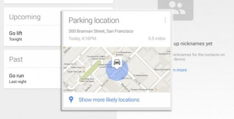 Google Parking Location.