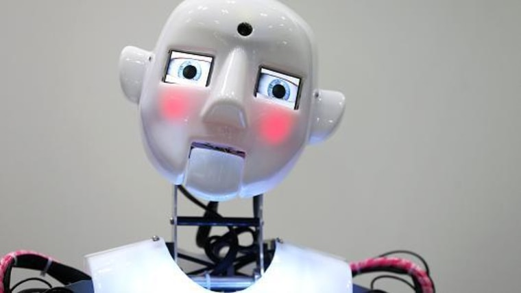 Image: The RoboThespian interactive humanoid robot, developed by Engineered Arts Ltd.