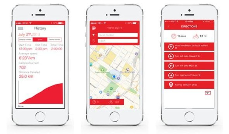 The app allows users to set destinations, check distances, and look at ride history.