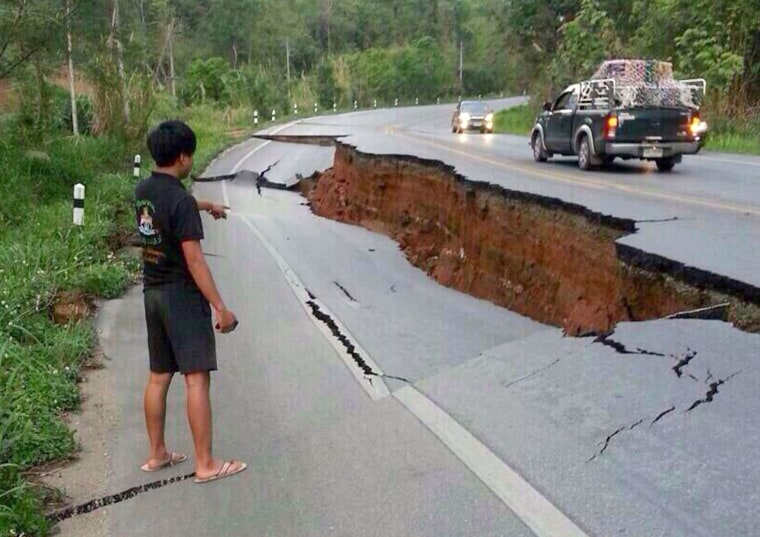 Image: Earthquake damage in Phan district of Thailand's Chiang Rai province