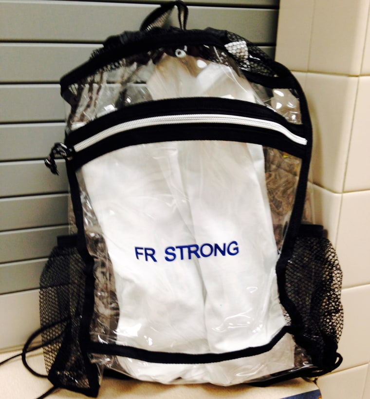 Clear bags distributed at Franklin Regional High School