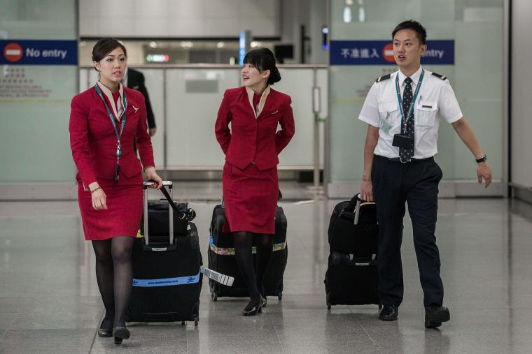 Image: HONG KONG-AIRLINE-COMPANY-CATHAY-SOCIAL
