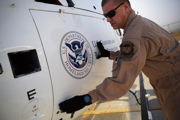 Image: U.S. Air and Marine Helicopters Patrol U.S-Mexico Border In California