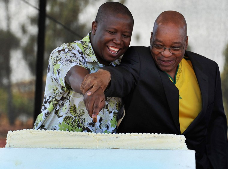 Image: Julius Malema and South African President Jacob Zuma