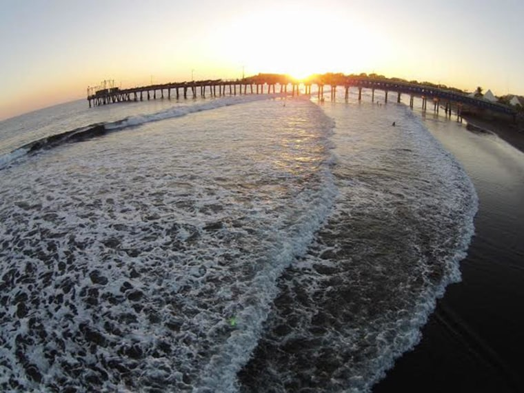 A view of the beach shot by a drone launched by La Prensa Grafica