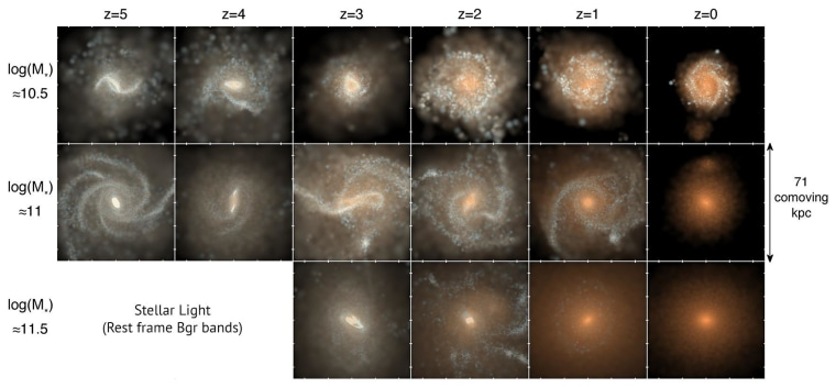 Galaxies in the simulation not only look like ones we've observed, but behave the same way over (simulated) time.