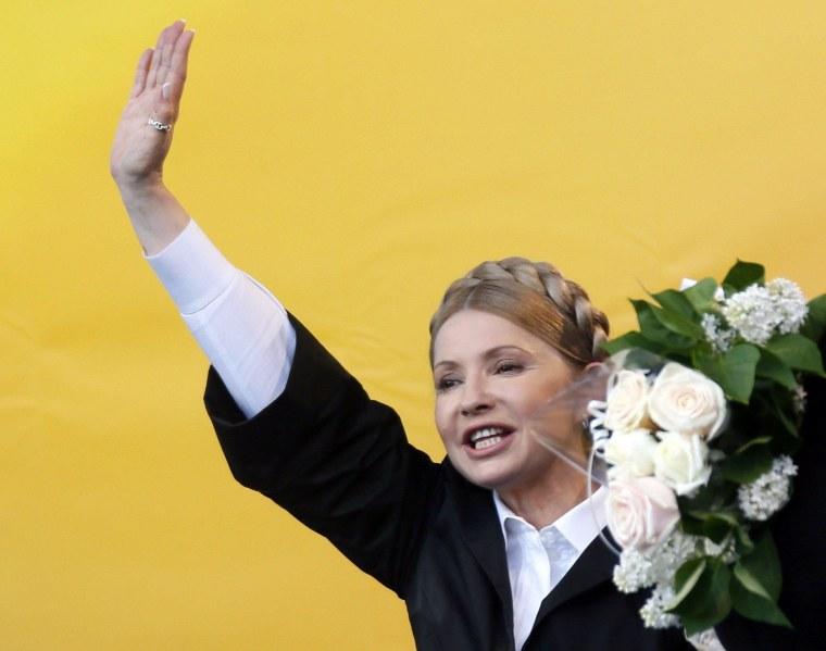 Image: Yulia Tymoshenko on April 30