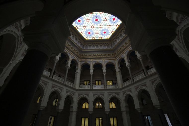 Image: An interior view of the restored Vijecnica