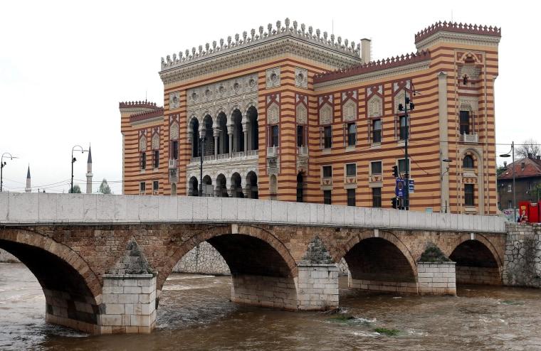 Image: The restored Vijecnica building