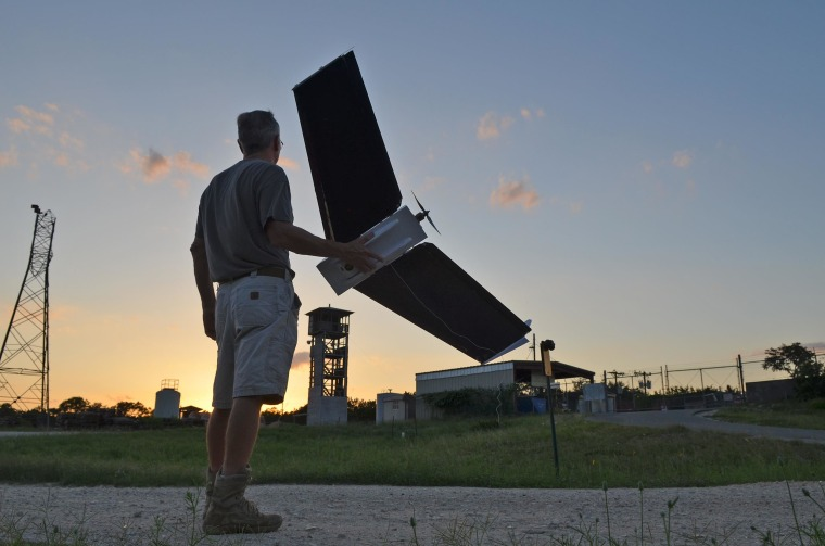 Gene Robinson and his Spectra fixed-wing drone