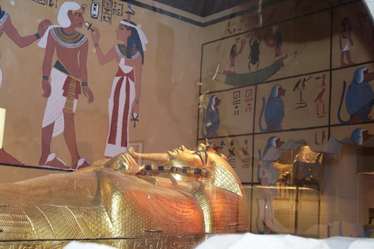 Image: A replica of King Tut's tomb resides in the Las Vegas Natural History Museum.
